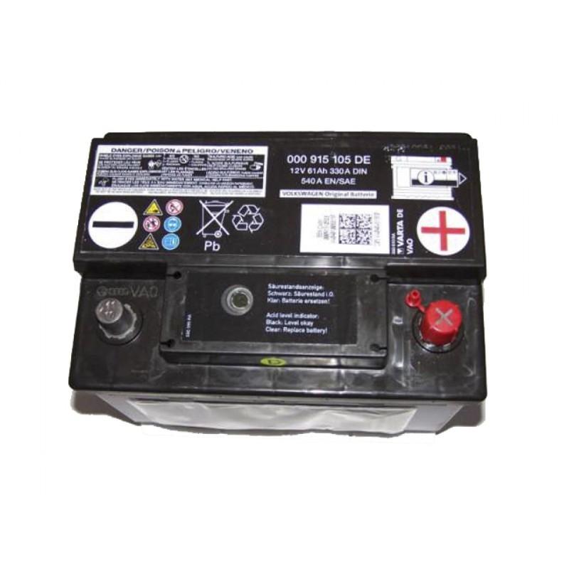 Батарея аккумуляторная, 12В 61А/ч